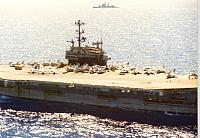 USS Independence from port side